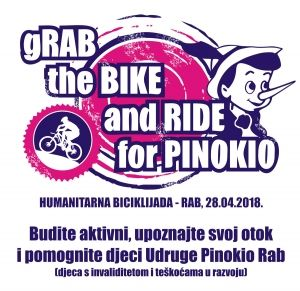 "I ove godine pedaliramo za Pinokio! - ""gRab the Bike and Ride for Pinokio"" / (sub.) 28.4.2018."