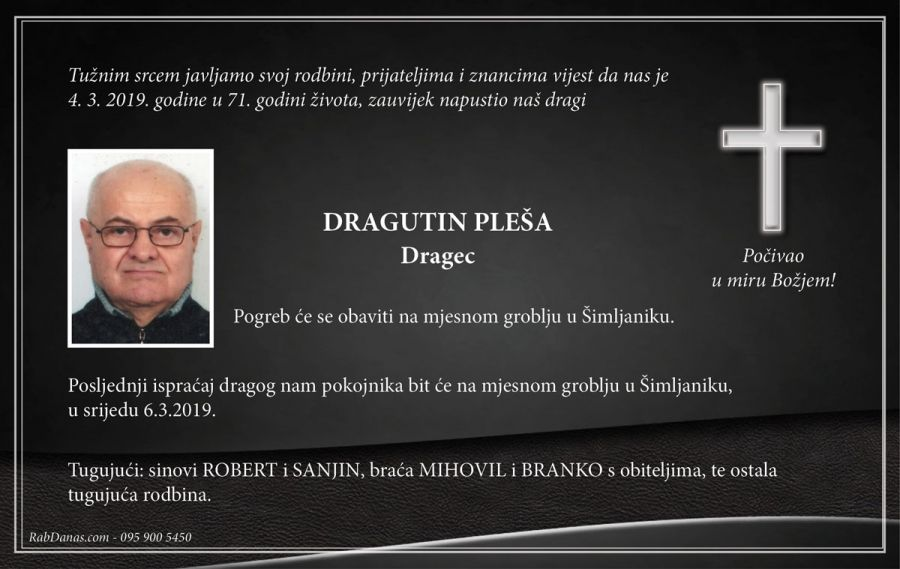 DRAGUTIN PLEŠA - Dragec