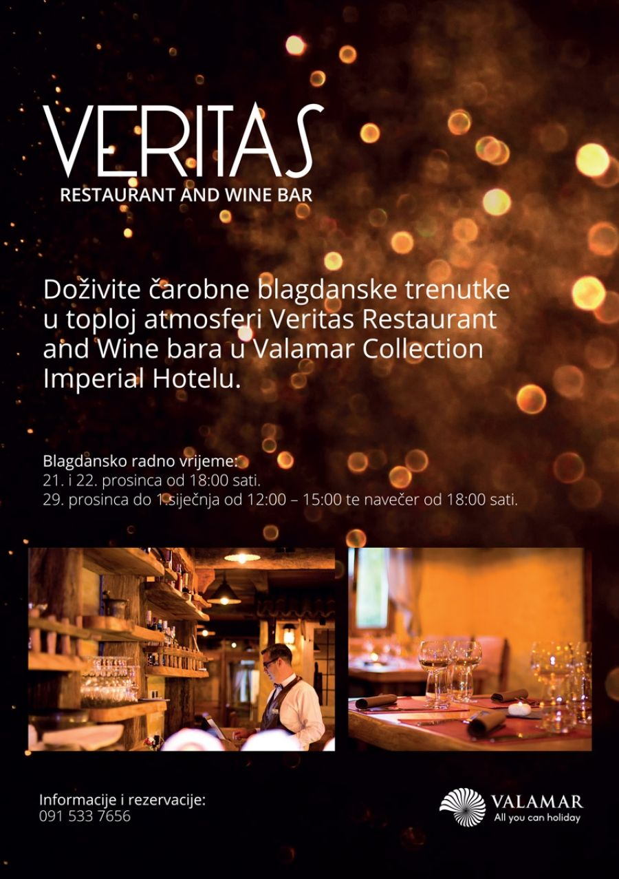 Veritas Restaurant and Wine bar u Valamar Collection Imperial Hotelu